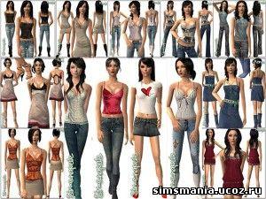 Женская одежда sims 2